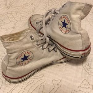 White Converse Gently Used Condition
